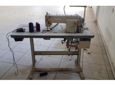 Máquina de costura industrial reta eletrônica, marca SUNSTAR, modelo KM 235 BS